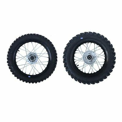 HMParts Dirt Cross Pit Bike  Alu  Felgen SET Eloxiert 12 / 12 S