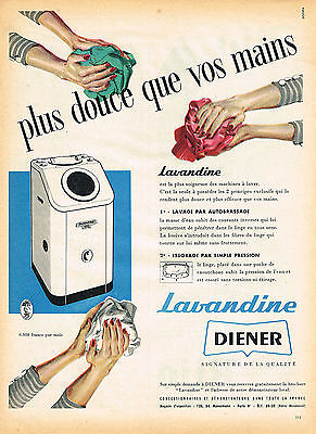 Publicite Advertising 054 1956 Diener Machine à Laver Lave Linge Lavandine Other Breweriana
