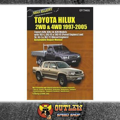 Automotive Book Ellery Repair Manual Toyota Hilux 2 & 4Wd 1997-2005 - Ep.th6G