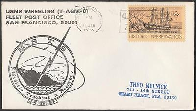 US Naval Space cacheted cover MSTS Missile Tracking & Recovery 1974