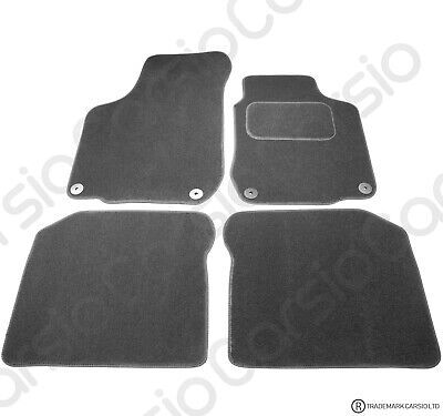 VW Golf MK4 & Beetle Tailored Black Car Floor Mats Carpets 4pc Set Round 4 Clips