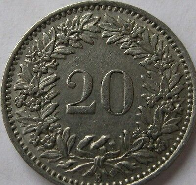 Switzerland 20 Twenty Rappen Coins 1956 - 1995 Swiss