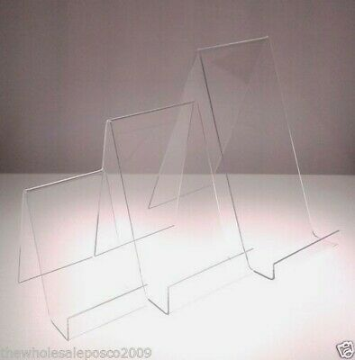Book Phone Plate Display Stand Clear Perspex Acrylic Small Medium Large Displays