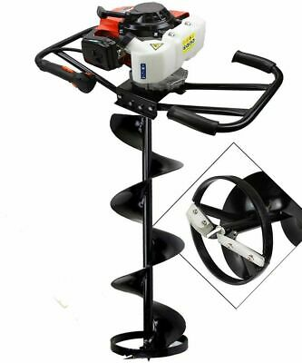 """EPA 3HP Two 2 Man 63cc Gas Post ice Planting Hole Auger Digger Machine 8"""" Ice"""