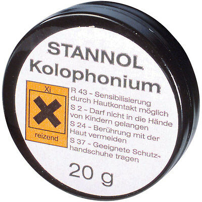 Stannol 174081 Rosin - 20g Metal Tin Hard Amber Soldering Flux - 1st Class Post