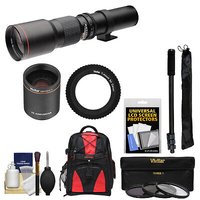 500mm 1000mm f/8.0 Telephoto Lens For Canon EOS 7D 70D Rebel SL1 T3i T5 T5i