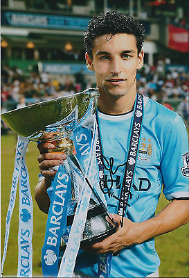 Jesus NAVAS Signed Autograph 12x8 Photo AFTAL COA Man City Premier League Winner