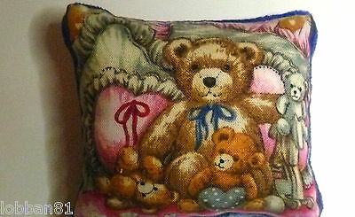 Pin Cushion Bear Cotton & Blue Velvet in organza gift bag New Brand New