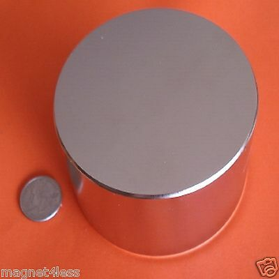 1 Rare Earth Neodymium Disc Magnet 4x2 Inch Grade N42 Pull Force over 900 lbs