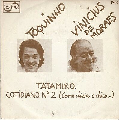 "VINICIUS DE MORAES & TOQUINHO - Tatamiro - Spanish 7"" single 45 Spain 1976"