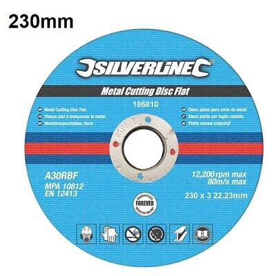 Silverline Angle Grinder Metal Cutting Disc 9 Inch 230mm X 3 X 22.2mm 1 x Blade
