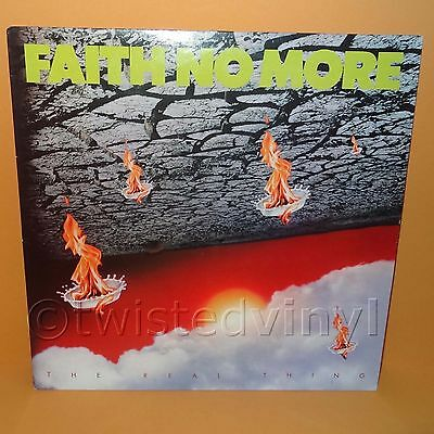 "1989 Slash Records Faith No More - The Real Thing 12"" Lp Album Vinyl Record Rare"