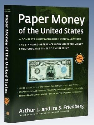 SALE Paper Money of the United States 20th Ed Hardcover Friedberg 50% off List
