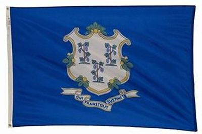 CONNECTICUT The Constitution State OFFICIAL FLAG 5X8 FT OUTDOOR NYLON USA MADE