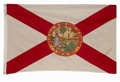 FLORIDA The Sunshine State OFFICIAL STATE FLAG 5X8 FT OUTDOOR NYLON MADE IN USA