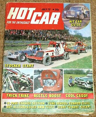Hot Car Magazine July 1973 - ALLEGRO 1750 SPORT TEST - KIT CARS & BUGGIES GUIDE