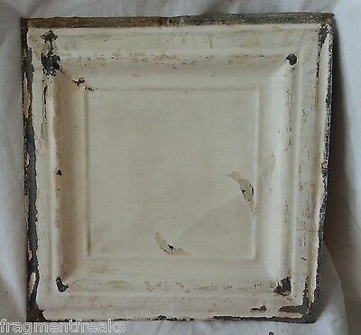 """12"""" x 12"""" Antique Tin Ceiling Tile *SEE OUR SALVAGE VIDEOS* White F34"""