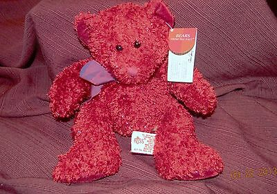 "Russ SIZZLES THE SPARKLY RED TEDDY BEAR 9"" Plush STUFFED ANIMAL"