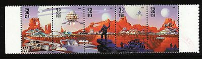 Scott #3238-42 Used Strip of 5 Space Discovery