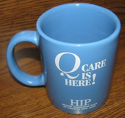 Vintage Corporate HIP Q/CARE Collector Ceramic Coffee Cup/Mug RARE MINT