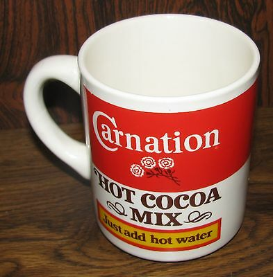Vintage Carnation HOT COCOA MIX Ceramic Coffee Cup/Mug RARE