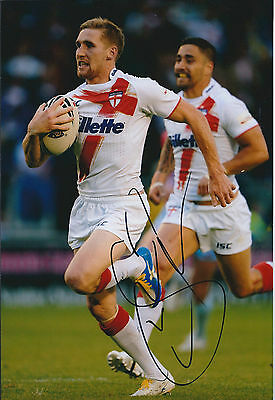 Sam TOMKINS Signed Autograph 12x8 Photo AFTAL COA RUGBY Wigan WARRIORS RARE