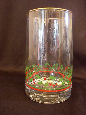 1985 Arby's Christmas Collection 16 Oz Glass - Holly Leaf & Berry