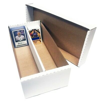 (12) 1600 Count Baseball Trading Card Max Protection Cardboard Storage Boxes