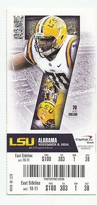 2014 Lsu Tigers Vs Alabama Crimson Tide Ticket Stub 11/8/14 College Football