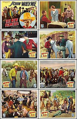 JOHN WAYNE THE NEW FRONTIER Complete Set Of 8 Individual 11x14 LC Prints 1935