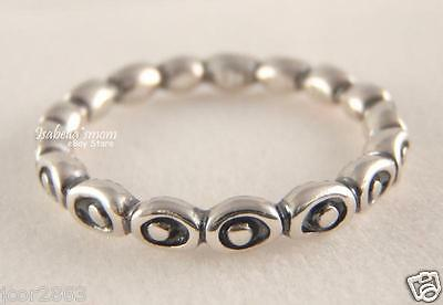 dfc831892 CELEBRATION 100% Genuine PANDORA Sterling Silver BAND Stackable Ring 7.5/56  NEW