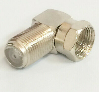 Lot 4 x 90 degree Right Angle Coaxial Coax Connector RG59/RG6U cable GOLD PLATED