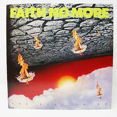"1989 Slash Records Faith No More - The Real Thing 12"" Lp Album Vinylrecord Rare"