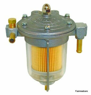 FUEL REGULATOR FILTER KING 85mm CLEAR GLASS BOWL NEW