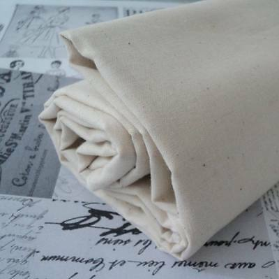 EXTRA WIDE - DOUBLE WIDTH CALICO NATURAL 100% COTTON FABRIC 240cm wide 94 inches