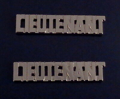 LIEUTENANT silver/nickel 3/8 Letters Collar Pins Insignia police/fire/sheriff LT
