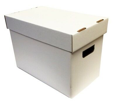 (2) MAX PRO TIME MAGAZINE or CATALOG CARDBOARD STORAGE BOXES