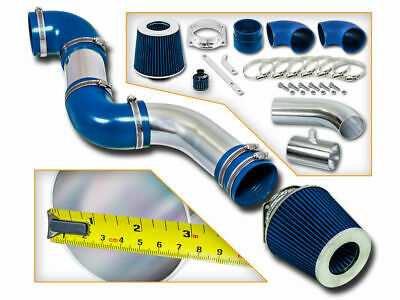 RACING AIR INTAKE KIT + DRY BLUE FILTER FOR Mercury 96-02 Grand Marquis 4.6L V8