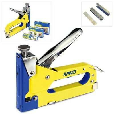 3-In-1 Metal Staple Gun Heavy Duty Stapler Upholstery Tacker + 4600 Free Staples