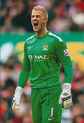 Joe HART Signed Autograph Photo AFTAL COA Man City Premier League Winner