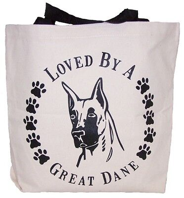Loved By A Great Dane Tote Bag New  MADE IN USA