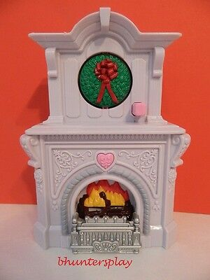 Christmas Fireplace Fisher Price Loving Family Home Holiday Dollhouse NEW