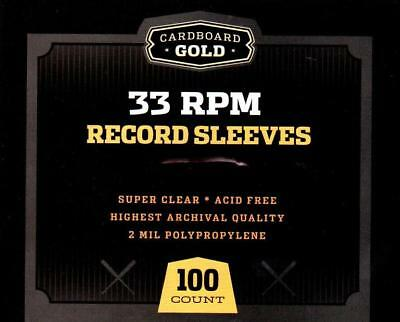 Pack / 100 CBG 33 RPM Record Album Poly Sleeves 12.75 x 13 - Acid Free, Archival
