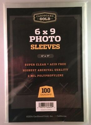 Lot of 500 CBG 6x9 Photo 2 mil Soft Poly Sleeves protectors 6 x 9 sheets covers