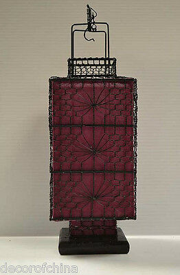 Nice Asian Chinese Purple Fabric Lantern Feng Shui Home Decoration Party Gift