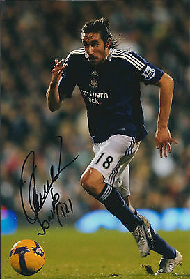Jonas GUTIERREZ SIGNED COA Autograph 12x8 Photo AFTAL Newcastle United RARE