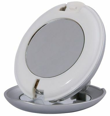 Zadro 1X/10X Magnification LED Lighted Hands Free Travel Mirror w/ Flashlight