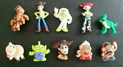 155185b464 10 x Toy Story Jibbitz Croc Shoe Charms Woody Buzz, Jessie, Mr Potato Head