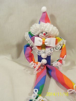 CJOYS - COLLECTIBLES CLOWNS - HAND MADE COSTUME/PAINTED/WOOD - ALL YEAR GIFT