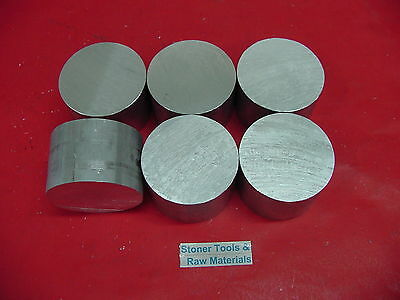 "6 Pieces 2"" ALUMINUM 6061 ROUND ROD 2"" long T6511 2.00 NEW Lathe Solid Bar Stock"